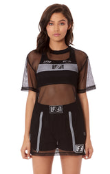 NIGHT RIDER NETTING OVERSIZED TOP WITH LF/LF STONY PATCH