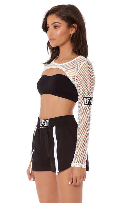 ULTRA CROP LONG SLEEVE NETTING TOP
