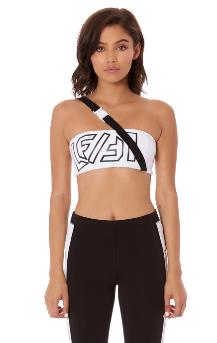 DIAGONAL BUCKLE STRAP TUBE TOP