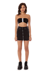 TRACKER BRANDED ZIP FRONT SKIRT WITH TRACKER TAPE