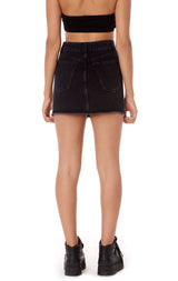 BRANDED ZIP FRONT SKIRT WITH TRACKER TAPE