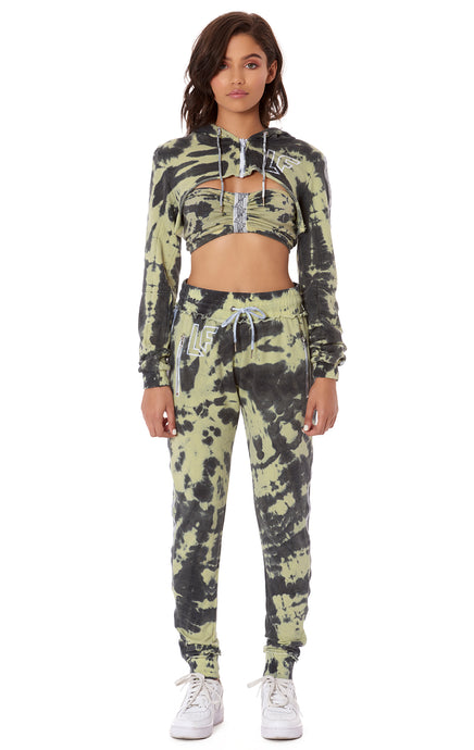 TIE DYE JOGGER PANT WITH TRACKER TAPE