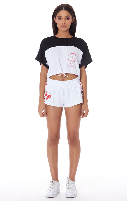 ATHLEISURE EDIT ATHLETIC SHORT WITH D-RING TAPE