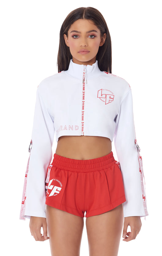 SUPER CROP TRACK JACKET WITH ARM D-RING TAPE