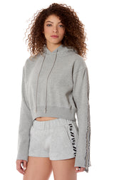 BELL ZIPPER SLEEVE SWEATSHIRT