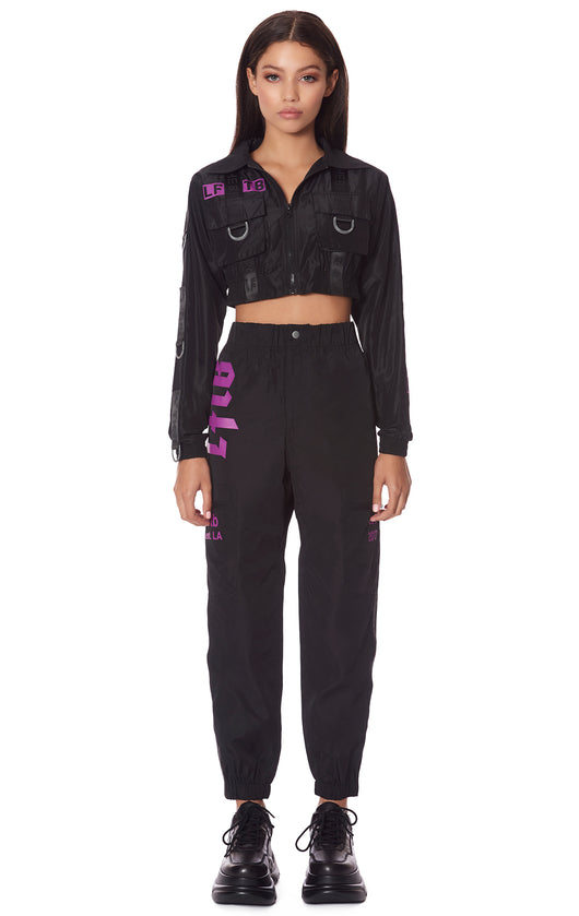DOUBLE POCKET WINDBREAKER TAPE PANT