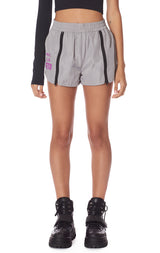 DOUBLE ZIPPER WINDBREAKER SHORT