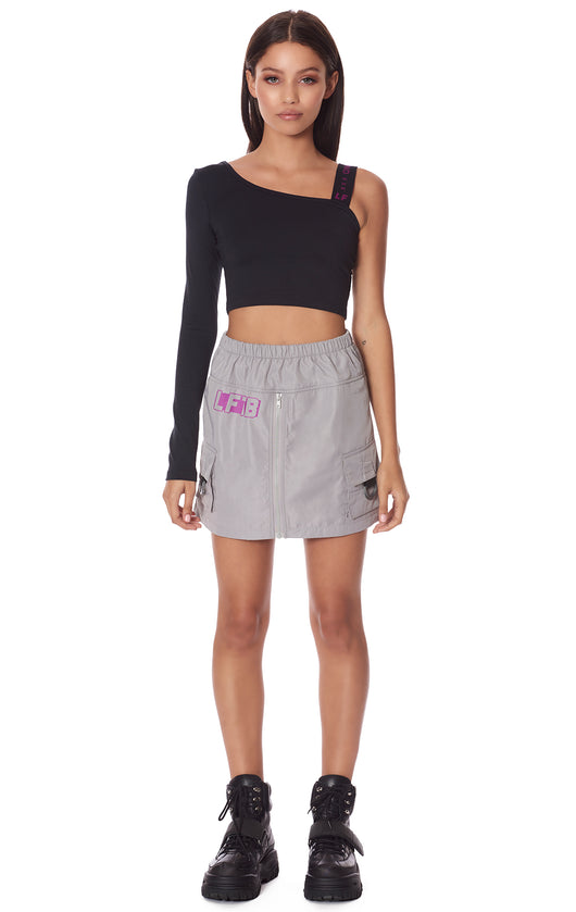 CARGO POCKET ZIP FRONT SKIRT