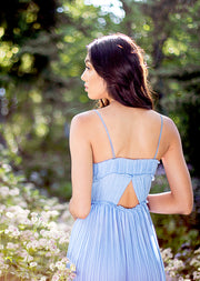 womens-pleated-chiffon-dress-light-blue-back