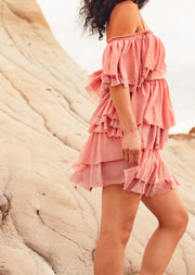 Mila Off-Shoulder Tier Ruffle Dress