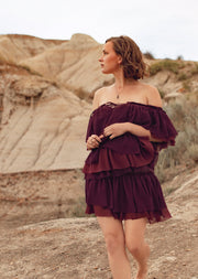 Sasha Off-Shoulder Tier Ruffle Dress