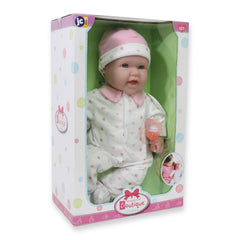 JC Toys, La Baby 16 inches Soft Body Baby Doll in Pink - Realistic Features