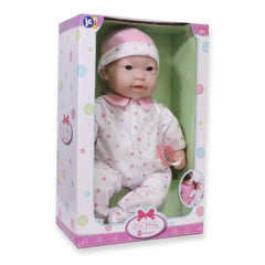 JC Toys, La Baby 16 inches Soft Body Asian Baby Doll in Pink Outfit