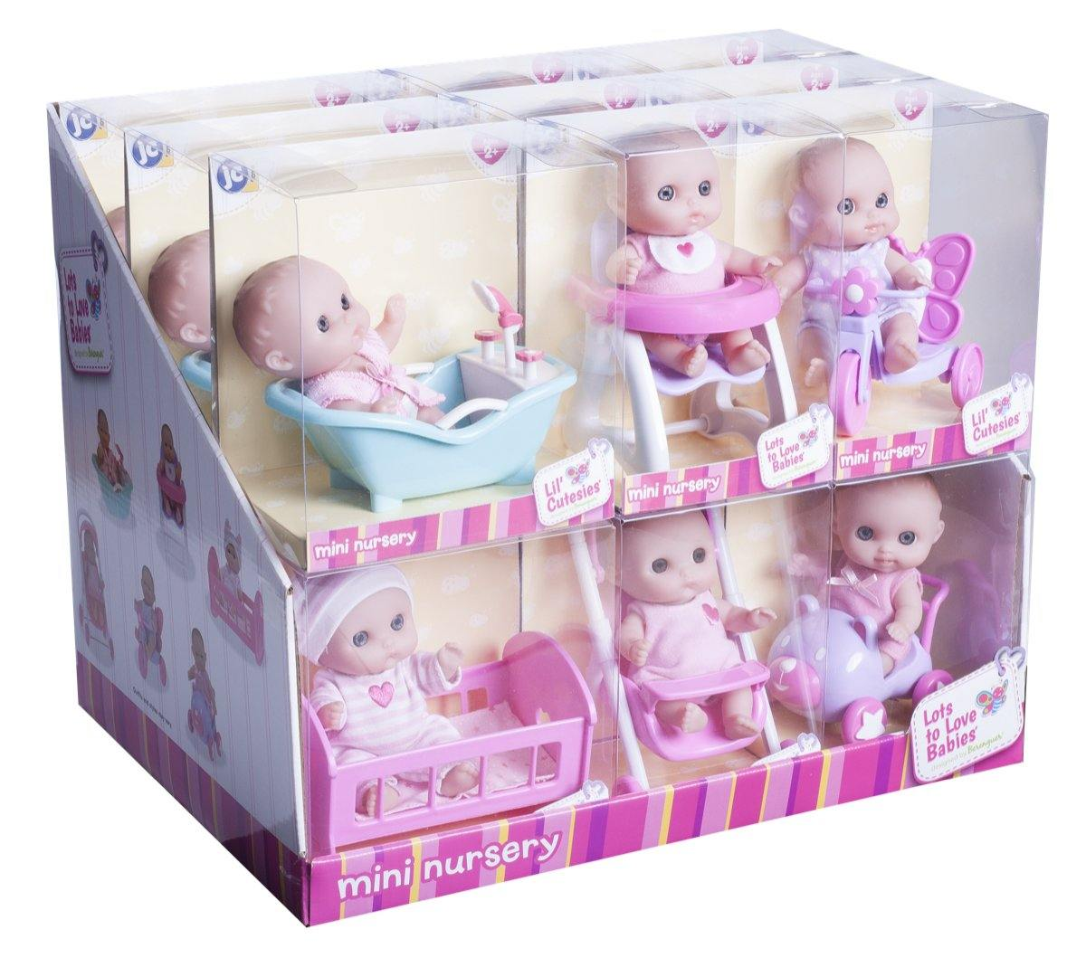 "Lil' Cutesies 5"" All Vinyl Dolls w/ Assorted Accessories in Gift Box"