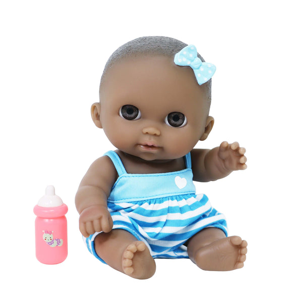 "JC Toys - Lil Cutesies African American 8.5"" All Vinyl Baby Doll 