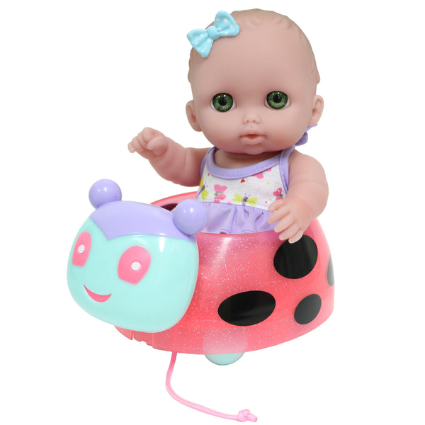 "Lil' Cutesies 8.5"" and Ladybug Pull Along"
