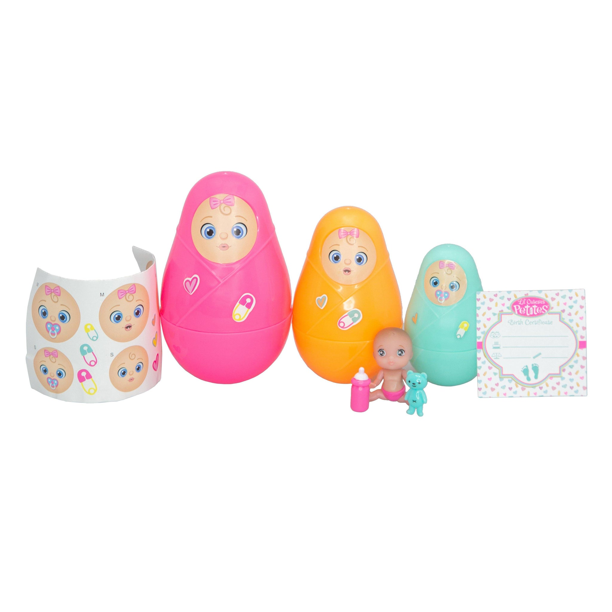 Value Bundle of 12 Mini Lil' Cutesies Petites Nesting Dolls Surprise 2in Doll