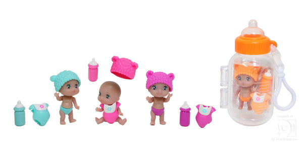 Lil' Cutesies PETITES! Collectable Surprise Dolls packaged in Baby Bottles