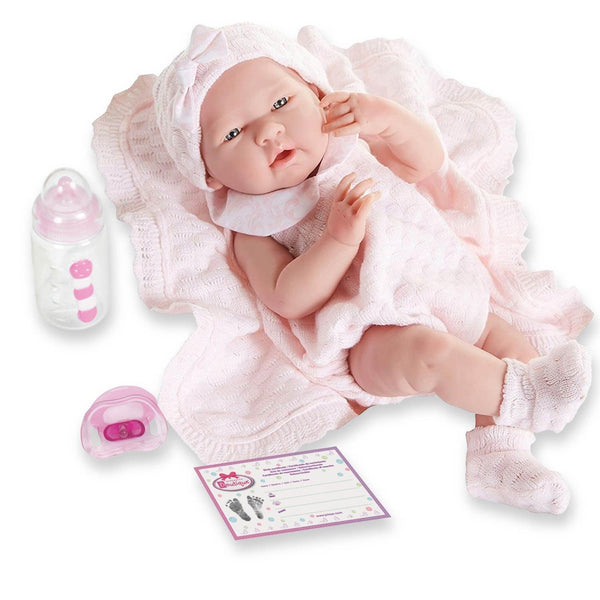 "15"" La Newborn Pretty Pink Knit Set"