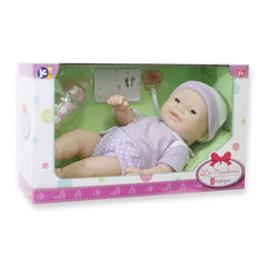 JC Toys, La Newborn 12 inches Asian All Vinyl Nursery Gift Set Doll
