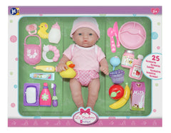 JC Toys, La Newborn Deluxe 12 inches Doll All Vinyl Nursery 25 Piece Gift Set - Item Not Available until Oct. 17,2020. WE ARE RECEIVING PRE-ORDERS!!!