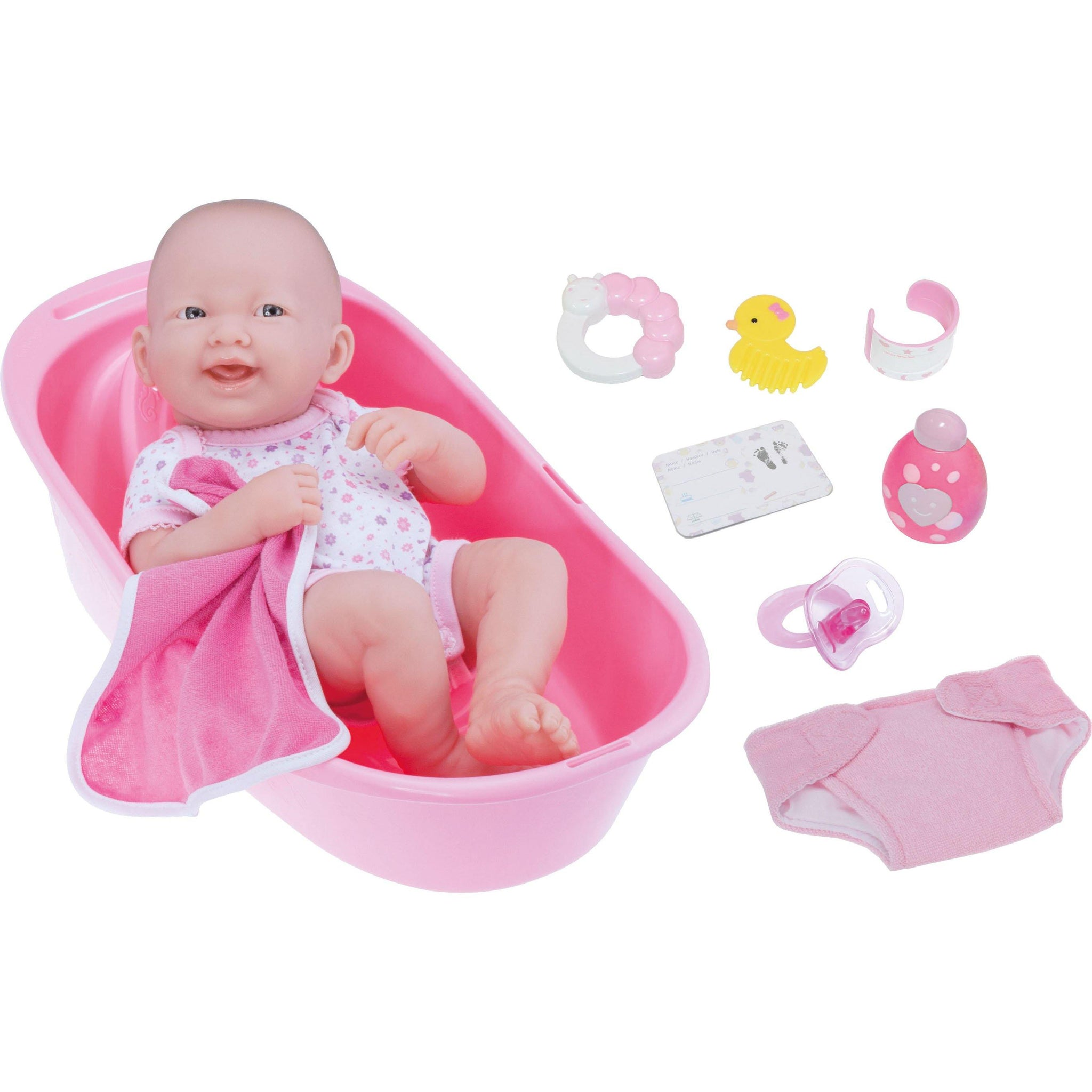 La Newborn 14 inches Deluxe Bath Time Fun Set