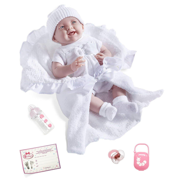 JC Toys, La Newborn Soft Body Realistic Baby Doll w/Deluxe Bunting & Accessories