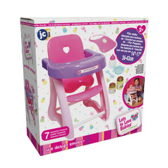 "For Keeps! Highchair + Accessory Gift Set fits dolls up to 16"" dolls - Ages 2+"