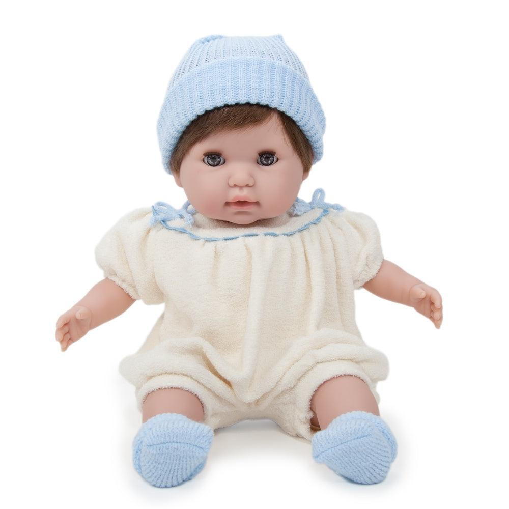 Nonis Brunette In Cream And Blue Soft Baby Dolls For