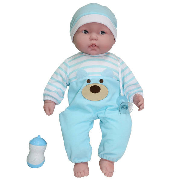 JC Toys, Lots to Cuddle Babies Soft Body Baby Doll 20 inches in Blue Outfit