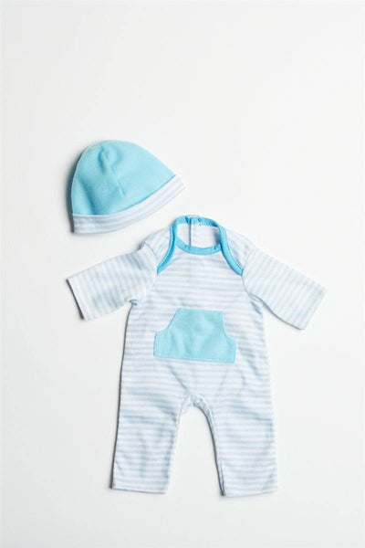 "Blue Romper for 13""-16"" Dolls"