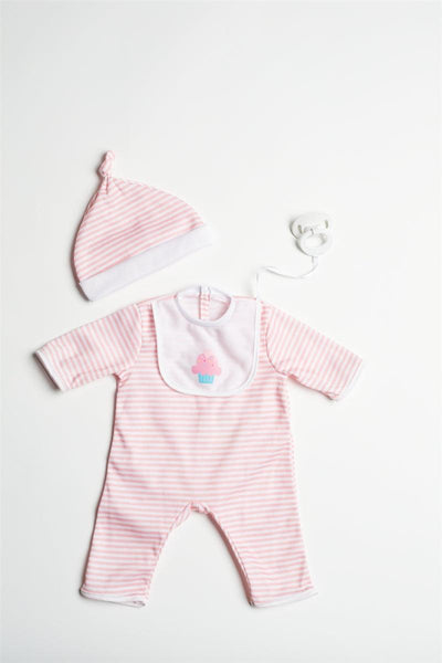 "Peach Romper for 17""- 20"" Dolls"