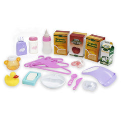JC Toys For Keeps! 20 Pcs Baby Doll Essentials Accessory Bag