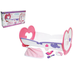 JC Toys, Deluxe Rocking Doll Crib and Accessories for Dolls up to 16 inches