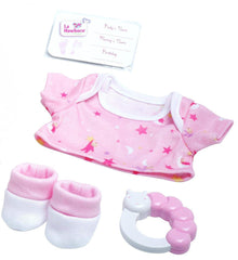 La Newborn Realistic Baby Doll Soft Basket Set - 6 Piece Gift Set featuring 13