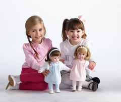 JC Toys BlondeToddler Doll, 14-Inch Soft Body Doll Dressed in Pretty Pink and White Dress. Open and close eyes.  Designed by BERENGUER for Children 3+.