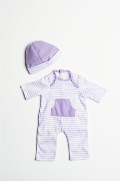 "Purple Romper for 13""-16"" Dolls"