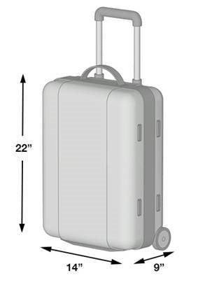 Hawaiian Carry-on Item dimensions size limits