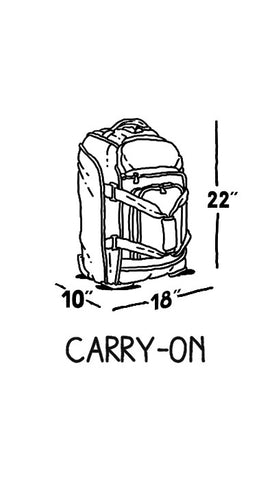 Spirit Air Carry-on baggage Item Dimension restrictions