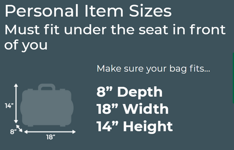 Frontier Air personal Item size limits