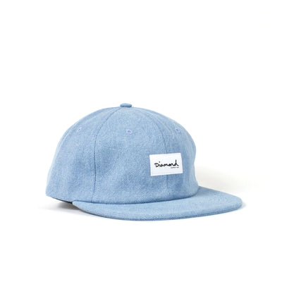 OG SCRIPT LABEL UNCONSTRUCTED 6 PANEL STRAPBACK