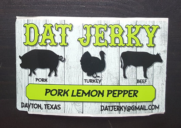 Pork Lemon Pepper Jerky