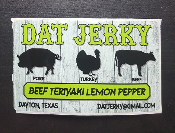 BEEF TERIYAKI LEMON PEPPER JERKY