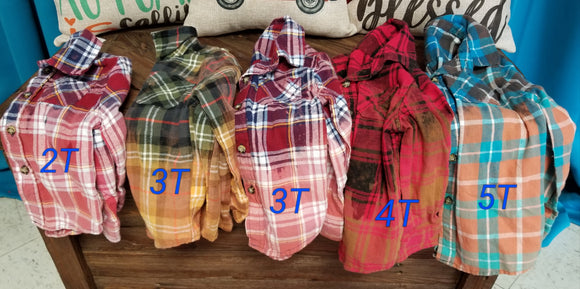 Infant distressed flannels