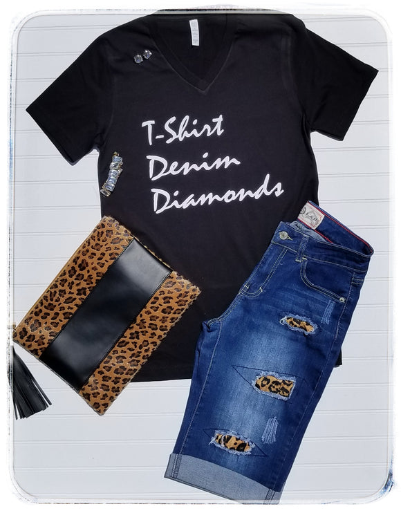 T-shirt Denim and Diamonds