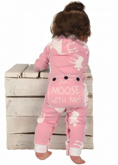 Pink Classic Moose infant Flapjacks Onesie
