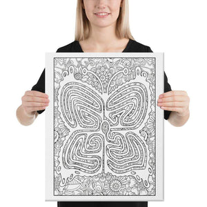 Color Me Chilled Canvas Prints 16×20 Butterfly Floral Labyrinth