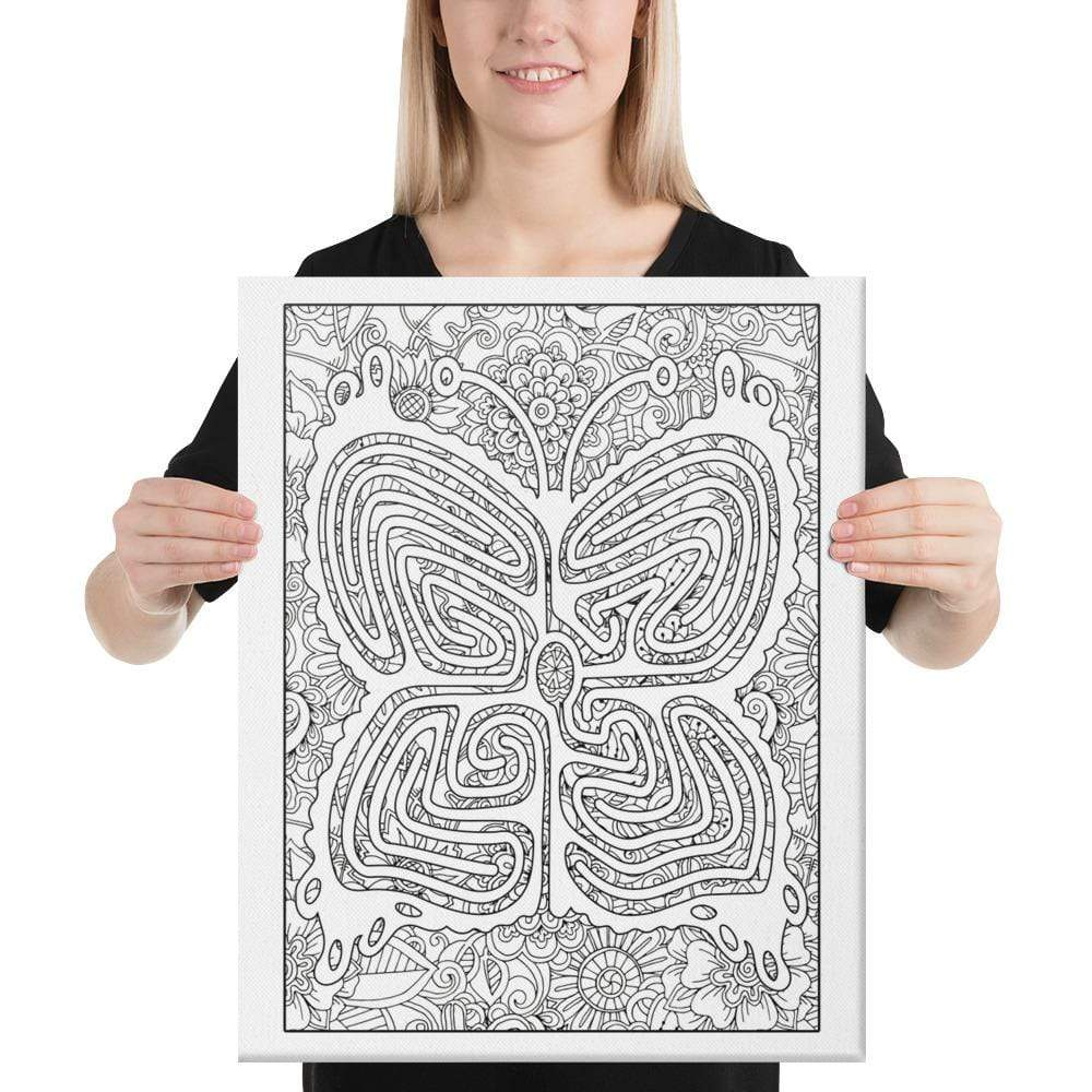 Color Me Chilled Canvas Prints 18×24 Butterfly Floral Labyrinth