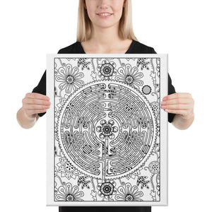 Color Me Chilled Canvas Prints 16×20 Chartres Floral Labyrinth