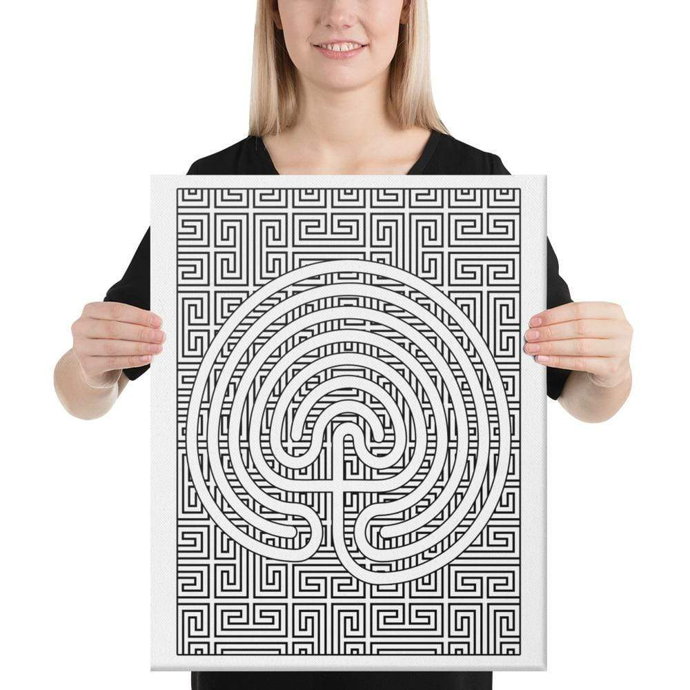Color Me Chilled Canvas Prints 24×36 Classical Geometric Labyrinth